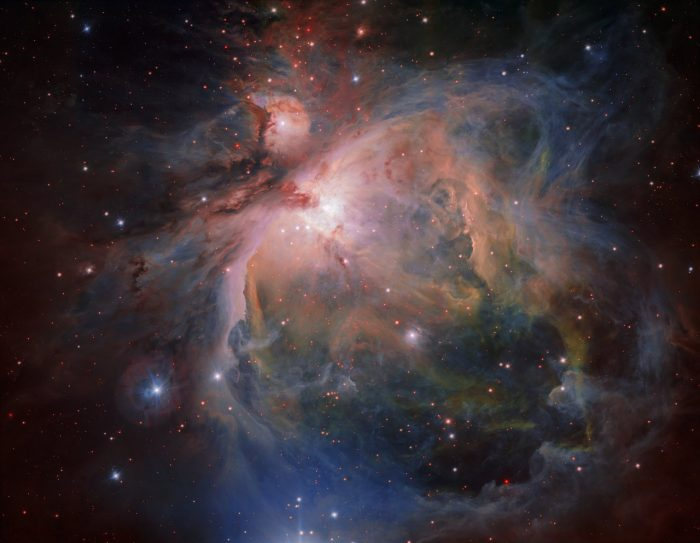 The Orion Nebula and cluster from the VLT Survey Telescope